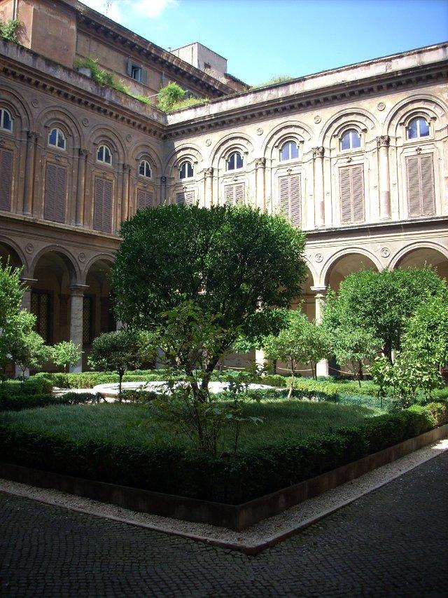 Il cortile di Palazzo Doria Pamphilj