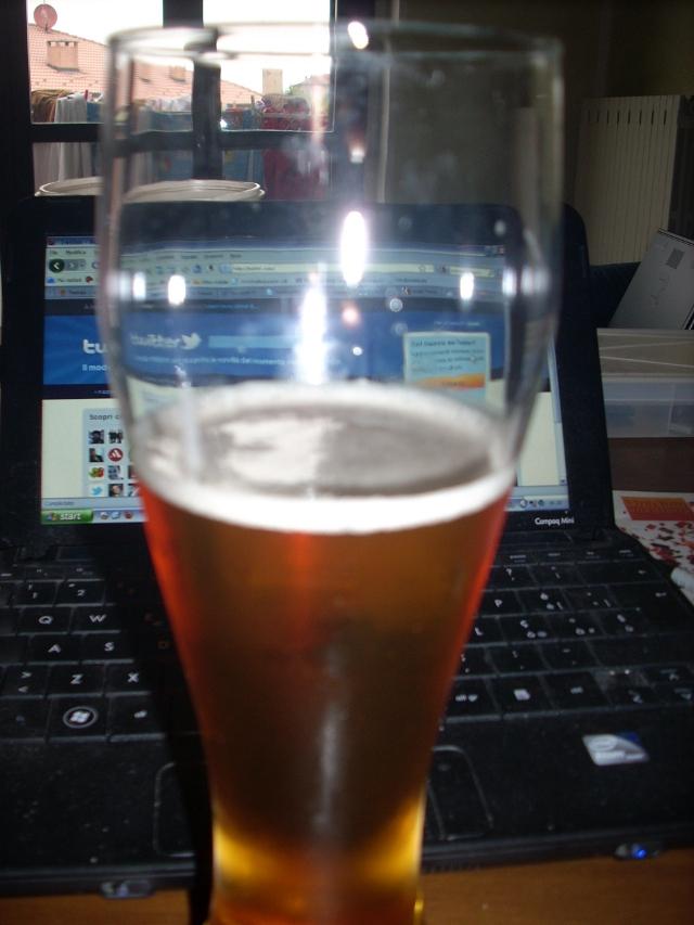 Bicchiere di birra casalinga