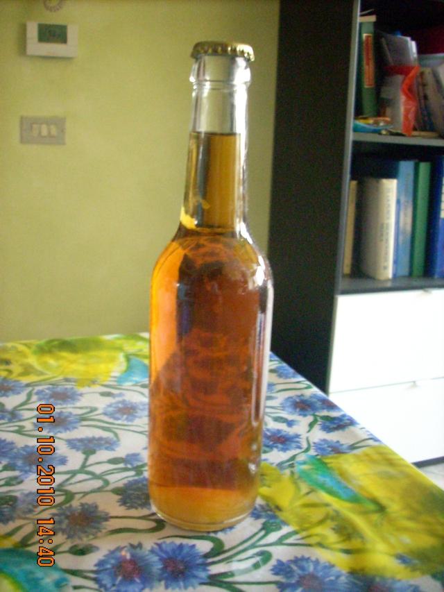 Bottiglia di Lager 7gg dopo l'imboottigliamento