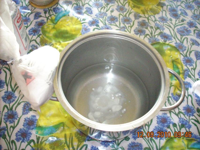 Soluzione di acqua e metabisolfito di sodio