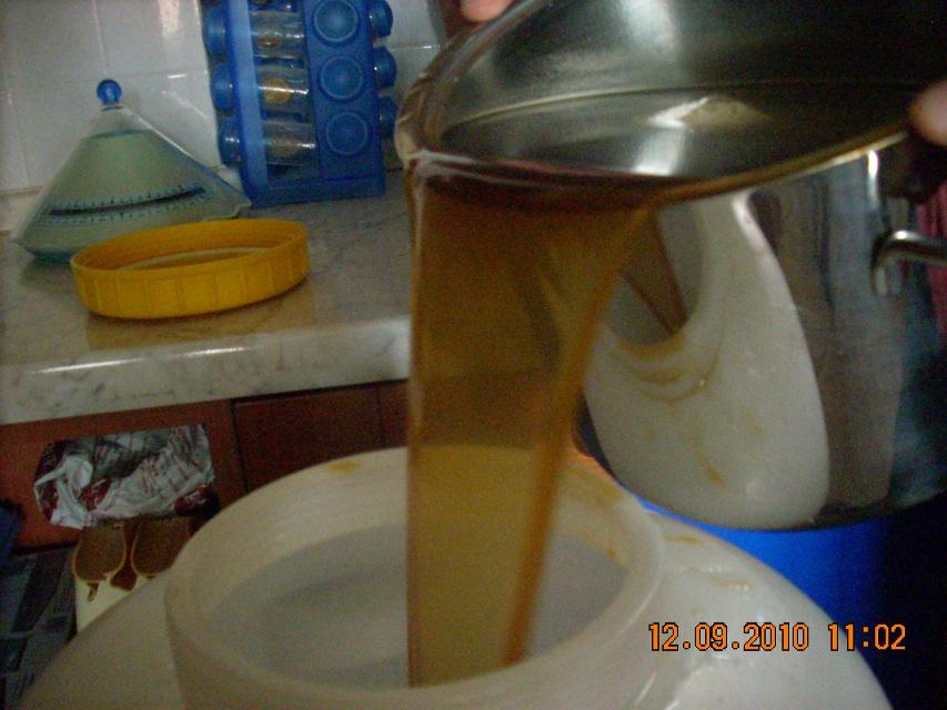 Trasferimento del liquido nel fermentatore